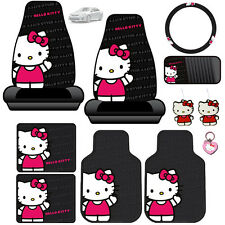 New Hello Kitty Core Car Seat Covers Floor Mats Accessories Set For Toyota