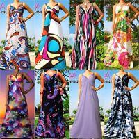 Angela Women Long Maxi Dress New Evening Party V-Neck Boho Size Medium 4 6 8 US