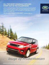 2013 Range Rover Sport - Original Advertisement Print Art Car Ad J672