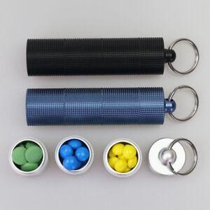 Creative Metal Mini Waterproof Aluminum Pill Box Case Bottle Holder Keychain New
