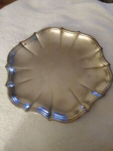 Oneida Silver Plate Chippendale Tray Platter 11""