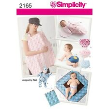 Simplicity Sewing Pattern 2165 Babies Swaddle Change Mat Nursing and Nappy Cover