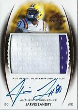 2014 LEAF TRINITY JARVIS LANDRY AUTO AUTOGRAPH RC JERSEY 2 COLOR DRAFT PATCH MT
