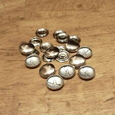 pack of 10 x 23mm self cover button metal buttons - cover with your own fabric