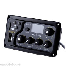 JOYO EQ-MP3 3Band EQ with Tuner and MP3 Player Acoustic Guitar MP3 Equalizer
