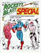 ROCKET'S BLAST SPECIAL #1 1967 SFCA Timely Marvel Raymond Miller RBCC Fanzine