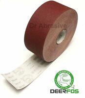 Emery Cloth Sandpaper Roll Deerfos High Quality 100mm 115mm 150mm GRIT 24-600