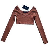 PrettyLittleThing Long Sleeve Crop Top in Copper - Size Small - Brand New W Tags
