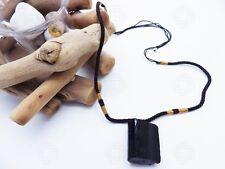 Raw Natural Black Tourmaline Pendant Chunk Reiki Chakra Protection Stone Gift UK