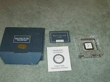NEW MARQUIS WATERFORD ARABESQUE CLOCK Lead Crystal DESK Clock