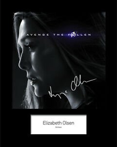 ELISABETH OLSEN #1 Signed 10x8 Mounted Photo Print (RePrint) - FREE DELIVERY