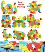 Wooden Alphabet Numbers Jigsaw Animal Puzzle Toys Children Educational Learning
