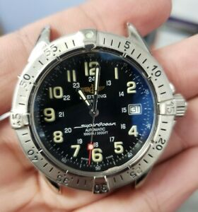 Breitling Stainless Steel Automatic A17340 Super Ocean 42mm No Bracelet Watch