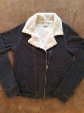 GREAT ABERCROMBIE KIDS Girls XL Sherpa Lined Charcoal Gray Jacket Sweatshirt