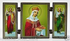 Triptich Ikone heilige Helena geweiht икона святая Елена освящена 12,8x7x0,6 cm