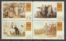 Korea 1972 Kim II Sung birthday On river block 4 NH CTO