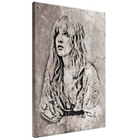 Stevie Nicks Framed Canvas Art Poster Picture A4 A3 A2 A1 Print Ready To Hang