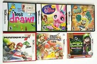 Nintendo 3DS & DS LOT OF 6 Game Case ONLY - No Games Mario Kart Super Smash Bros