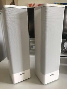 1 Paar Loewe Individual Sound Universal Lautsprecher, Weiß hochglanz, gebraucht,