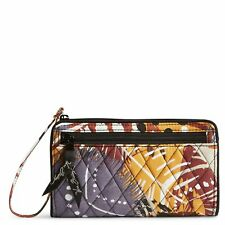 "Vera Bradley Front Zip Wristlet Wallet iPhone 6 6+ In ""Painted Feathers"""