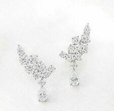 925 Sterling Silver Marilyn Monroe inspired Pear Round Dangle Party Earrings*
