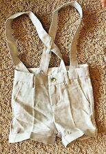Janie and Jack Gray Shorts 100% cotton shorts Khakis Size 6 12 Months NEW