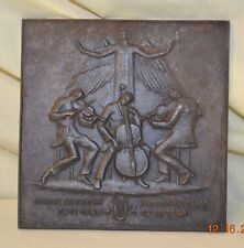 Bronze Plated Cast Iron Plaque of Franz Schubert Zum 100 Todestag 1828 1928 MH