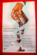 WHERE THE HEART IS 1990 DABNEY COLEMAN UMA THURMAN UNIQUE EXYU MOVIE POSTER