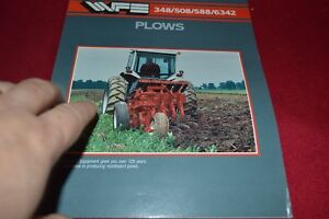 White Tractor 348 508 588 6342 Plow Dealer's Brochure YABE14
