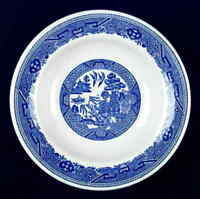 Buffalo Pottery BLUE WILLOW (RESTAURANT WARE) Rimmed Soup Bowl 6711768