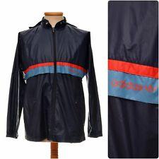 vintage ADIDAS 80s RAIN JACKET / windbreaker nylon cagoule size mens S-M