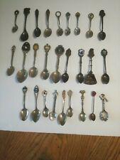 Vintage Lot Of 27 Souvenir Spoons From Various Cities & Popular Destinations