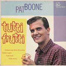 "Pat Boone ""Tutti Frutti"" 4-Song Dot EP Record (VG++/NM) Picture Cover (NM)"
