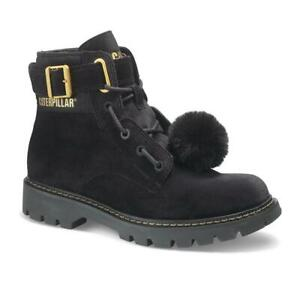Caterpillar Conversion Women Lace Up Cat Outdoor Velvet Boots with PU Outsole