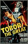 Tobor The Great 1954 Science Fiction Film Vintage Poster Print Retro Robot Art