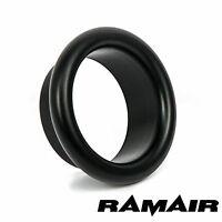 RAMAIR Black Aluminium 80mm Bellmouth - Trumpet - End Cap - Air Inlet Funnel