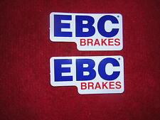 EBC Stickers x 2. New, Size 8cm x 4cm.