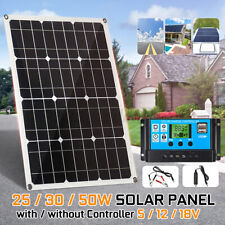 Solar Power Panel 50W 18V Dual USB Car Boat Battery Charger +LCD Controller Kit