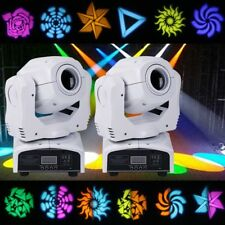 2PCS 80W RGBW LED Moving Head Stage Lighting 8 Patterns DMX DJ Disco Club Lights