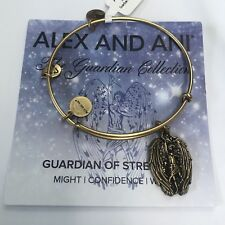 """ALEX AND ANI """"GUARDIAN OF STRENGTH CHARM BRACELET IN RUSSIAN GOLD! NWT AND CARD!"""