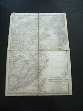 alte Landkarte Östliches China und Korea von 1869 auf Leinen