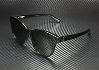 SAINT LAURENT YSL M23 K 001 Round Oval Black Grey 58 mm Unisex Sunglasses