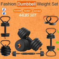 New 20kg Pair Adjustable Weight Set Dumbbells Kit Kettlebells, FREE SHIPPING!