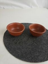 Pair of vintage chinese pottery cups, small