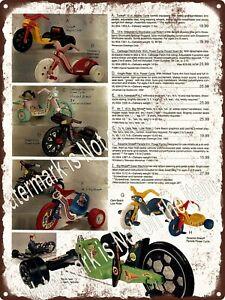 1984 Tonka Big Wheel Green Machine Cabbage Patch Knight Rider Sign 9x12 A575