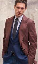 BRUNELLO CUCINELLI Brown DB COTTON & SILK Coat Jacket UK40 IT50 BRAND NEW + TAGS