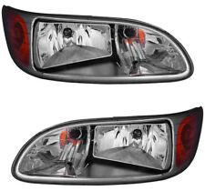 Headlights Headlight Assembly w/Bulb Pair Set for 05-14 Peterbilt Truck