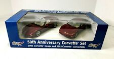 Corvette 50th Anniversary 2 car promo set 2003 Coupe Convertible NIB 1:25 Revell