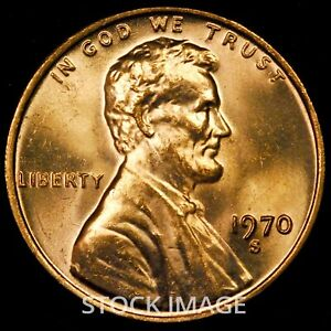 1970-S Large Date Lincoln cent penny - GEM BU quality!