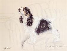 CAVALIER KING CHARLES ENGLISH TOY SPANIEL DOG ART LIMITED EDITION PRINT